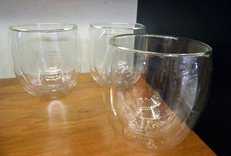 Copo de vidro duplo. Apaixonei!