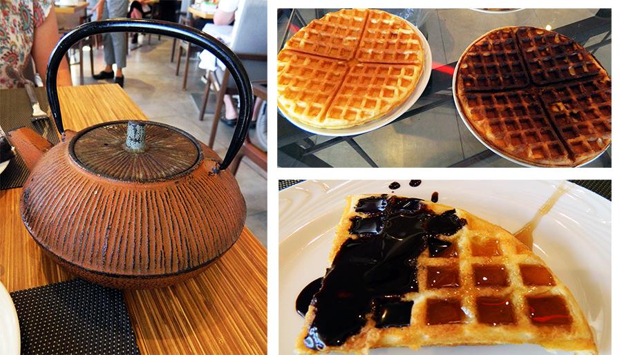 Waffles na versão normal e integral. Com 4 opções de coberturas.