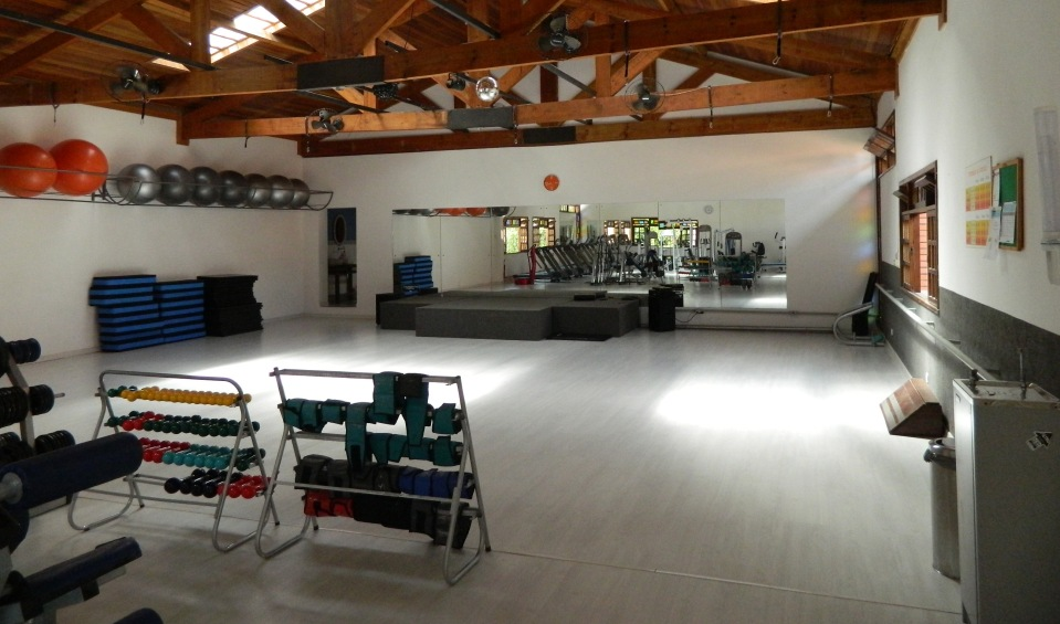 Espaço onde são realizadas as aulas de ginástica.